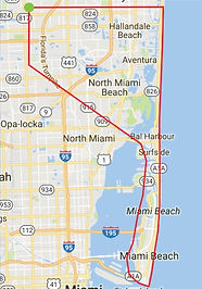 Sunny Isles Beach Air Tour Route