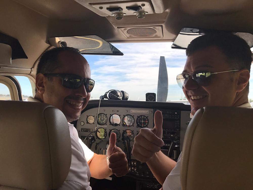 Capt Art Arboleda with Passenger
