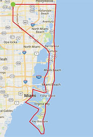 Key Biscayne Air Tour Route
