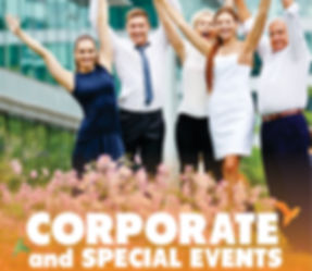 Corporate events, Large group discounts available
