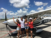 Happy Miami Air Tour Passengers