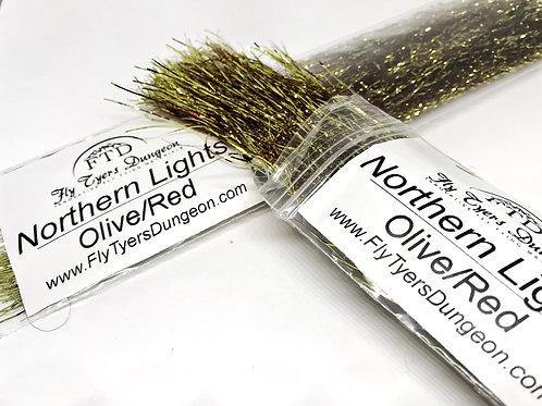 Northern Lights - Olive/Red