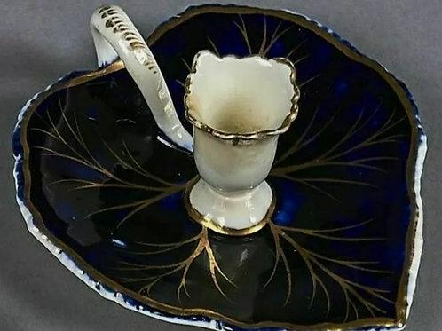 Antique porcelain taperstick  C1820-40