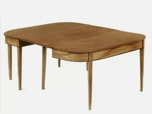 ANTIQUE REGENCY MAHOGANY D ENDED DINING TABLE, EARLY 19TH C,