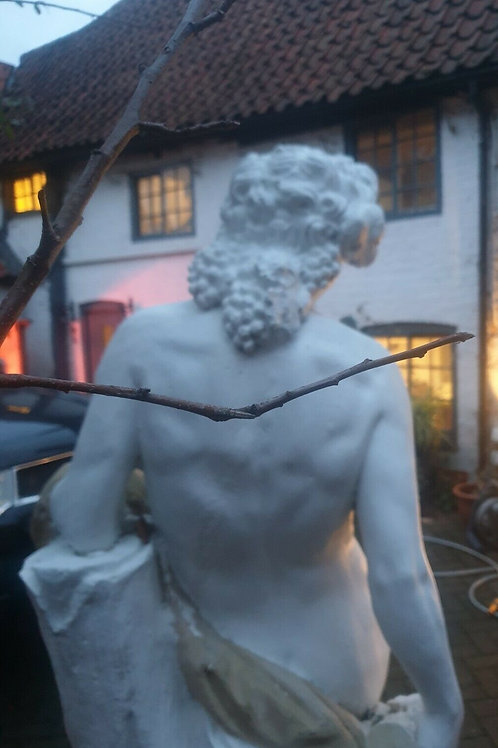 MAGNIFICENT LIFE SIZE STATUE OF BACCHUS