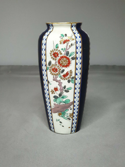 ANTIQUE HAND PAINTED VASE EARLY 19thC