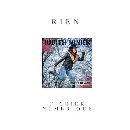 Rien - Judith Minier