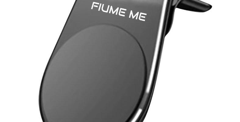BLACK-Magnetic Air Vent Smart Phone Holder Car Clip Luxury Magnetic L Shape
