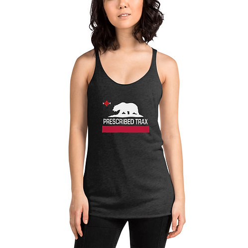 """California Republic"" Style Women's Racerback Tank"