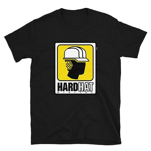Hard Hat Logo Short-Sleeve Unisex T-Shirt - Yellow Print