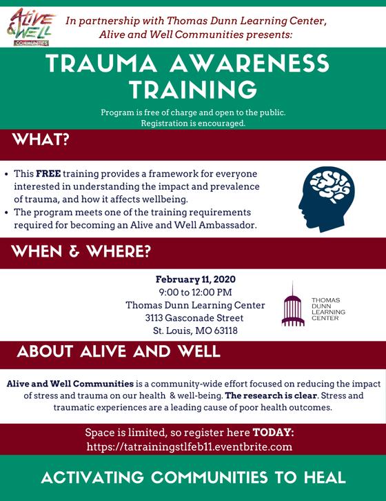 Alive & Well Communities on Trauma Awareness Training