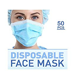 Disposable Respirator-Three Layers-(50 Pack)