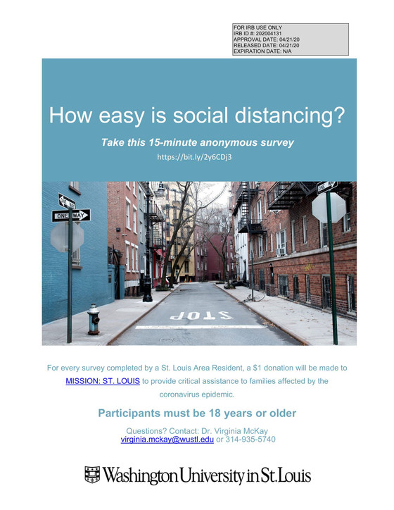 How easy is social distancing in the St. Louis Region?
