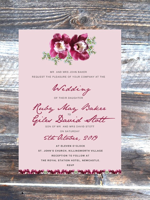 Oh Orchid! Wedding Invitations