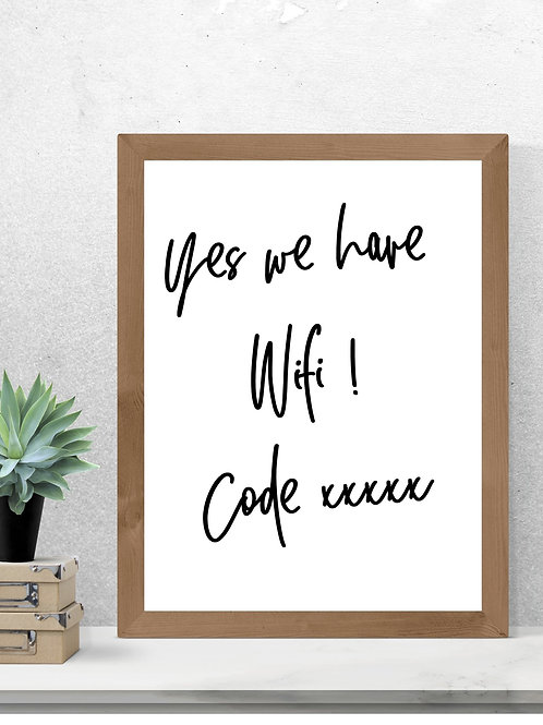 Yes we have Wifi  Print