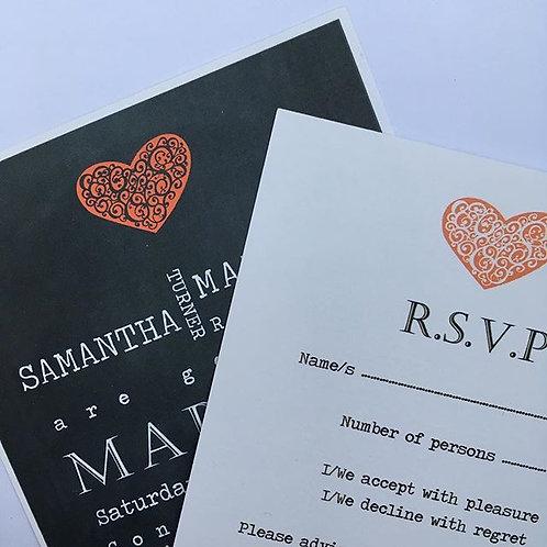 Chalkboard Love! Wedding Invitations