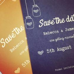 I love the little love hearts and mason jars! #weddingtrends #masonjarinvitations #weddinginvitation
