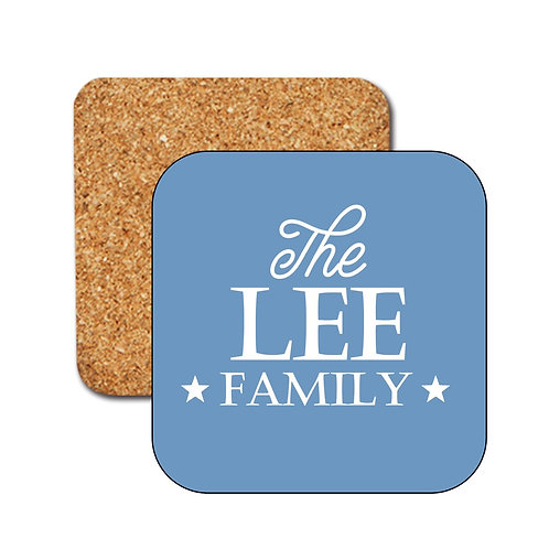 Family Name Personalised Coasters