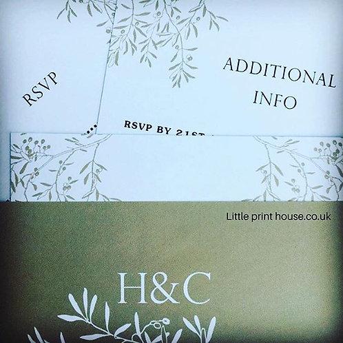 Branches Wedding Invitations