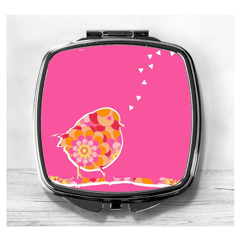 Love Song Retro Bird Compact Mirror.