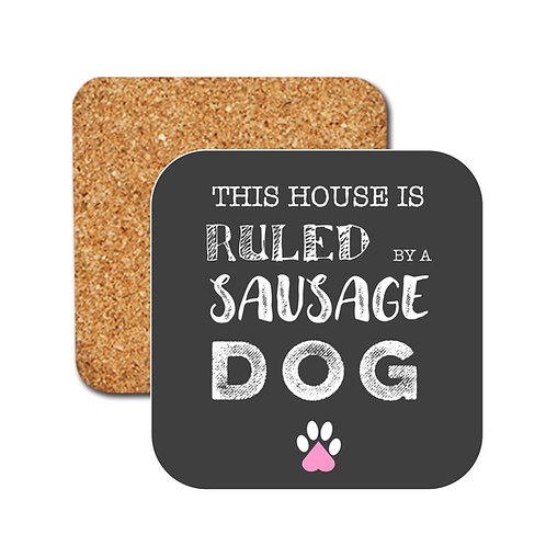 Sausage Dog Rules Coasters
