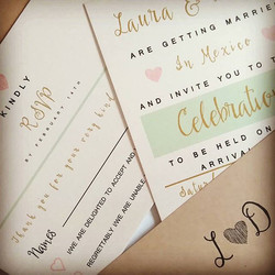 Gorgeous invites with coordinating rsvp, and lined envelopes