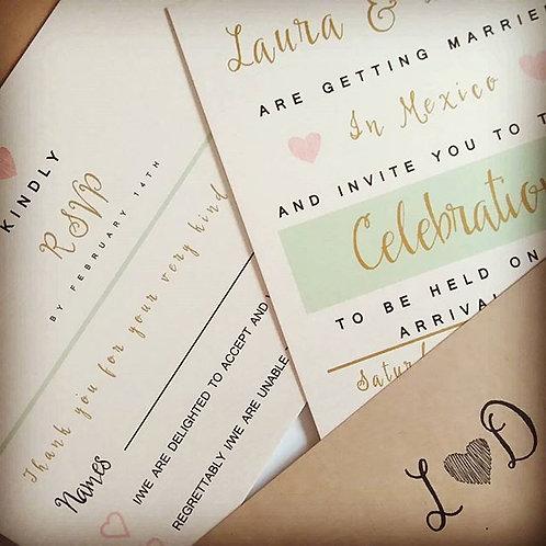 Laura Wedding Invitation set