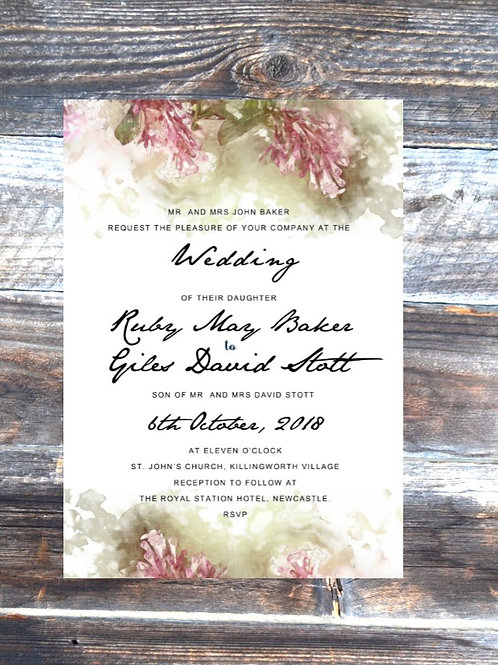 Wisteria Wedding Invitation set