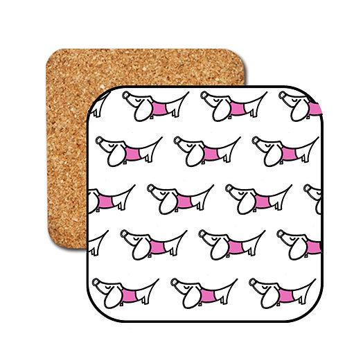 Simple Little Sausage Coasters