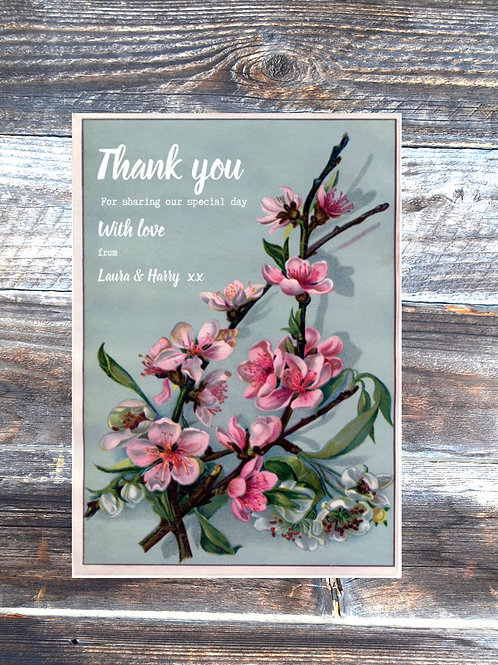 Blossom! save the date wedding card