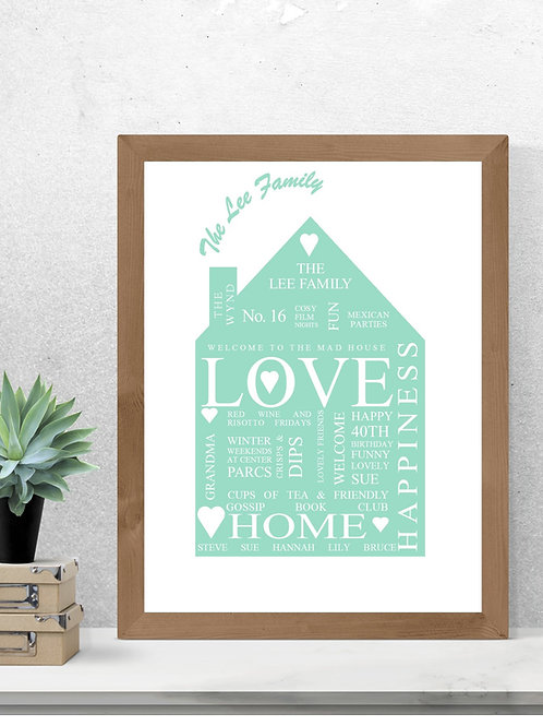 House Print personalised print