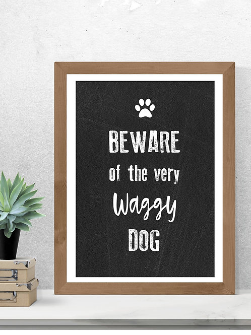 Waggy Dog  print