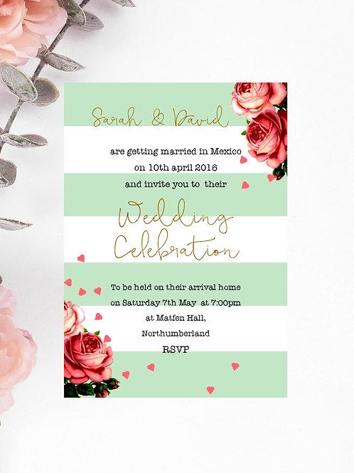 Save the Date Wedding Cards & Envelopes Vintage Petal