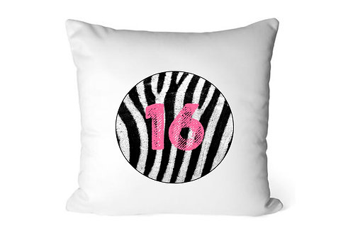 Personalised Zebra Print Cushion Cover