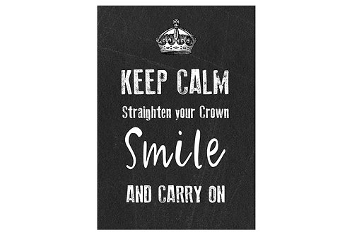 Keep Calm and Smile Metal Sign