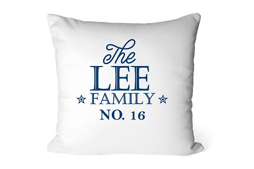 Family Cushion Cover, Personalised, Cushion Cover