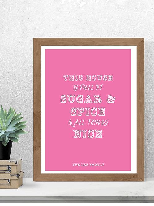 Sugar & Spice Print