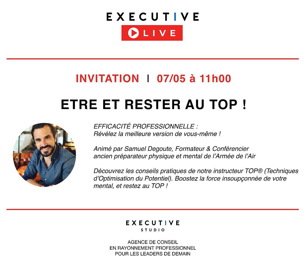 Executive LIVE - Etre et rester au TOP - EXECUTIVE STUDIO