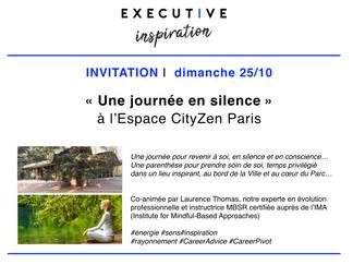 ✨ VOUS ÊTES INVITÉ(E) à une JOURNÉE en silence ! 25/10 à l'Espace CityZen Paris