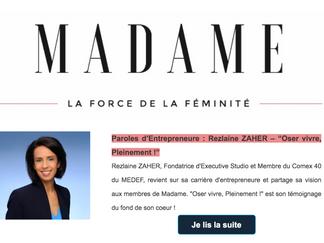 """""""Oser vivre, PLEINEMENT !"""" - Témoignage de Rezlaine Zaher dans Club MADAME"""