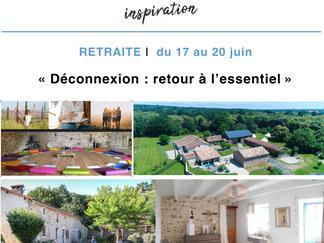 """Du 17 au 20 juin : Retraite """"Retour à l'essentiel"""""""