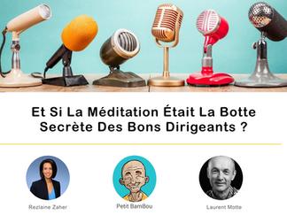 APPEL À TEMOIGNAGES 🎙️ Et Si La Méditation Était La Botte Secrète Des Bons Dirigeants ?
