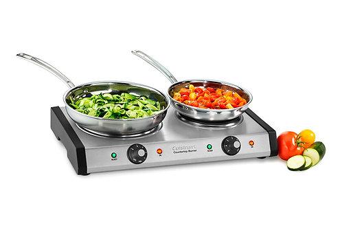 Estufa Eléctrica Cuisinart Doble con Placas de Hierro CB-60
