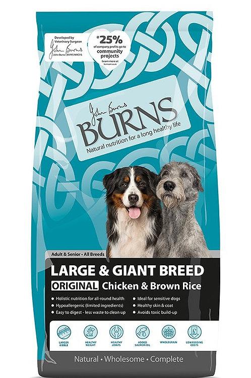 Burns Large & Giant Breed Original Chicken 12 Kg