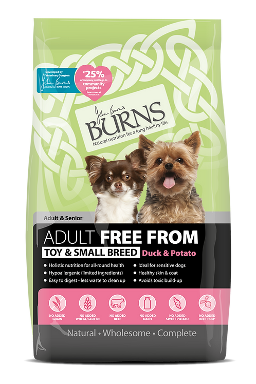 Burns Adult Free From , Toy & Small Breed  Duck
