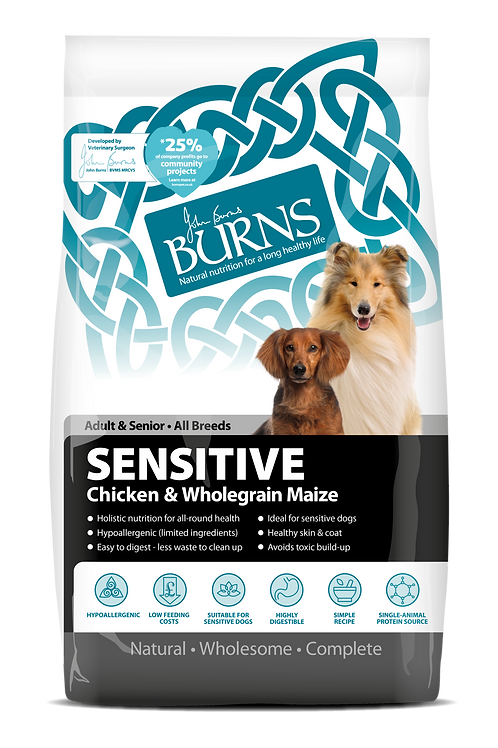 Burns Sensitive Chicken