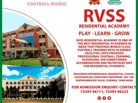 RVSS RESIDENTIAL ACADEMY | UPCOMING FOOTBALL TRIALS IN INDIA