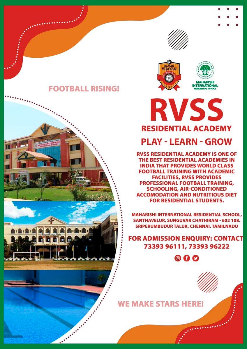 RVSS Football school Residential Academy   Upcoming football trials in India