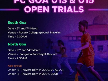 FC Goa trials   UPCOMING FOOTBALL TRIALS IN INDIA