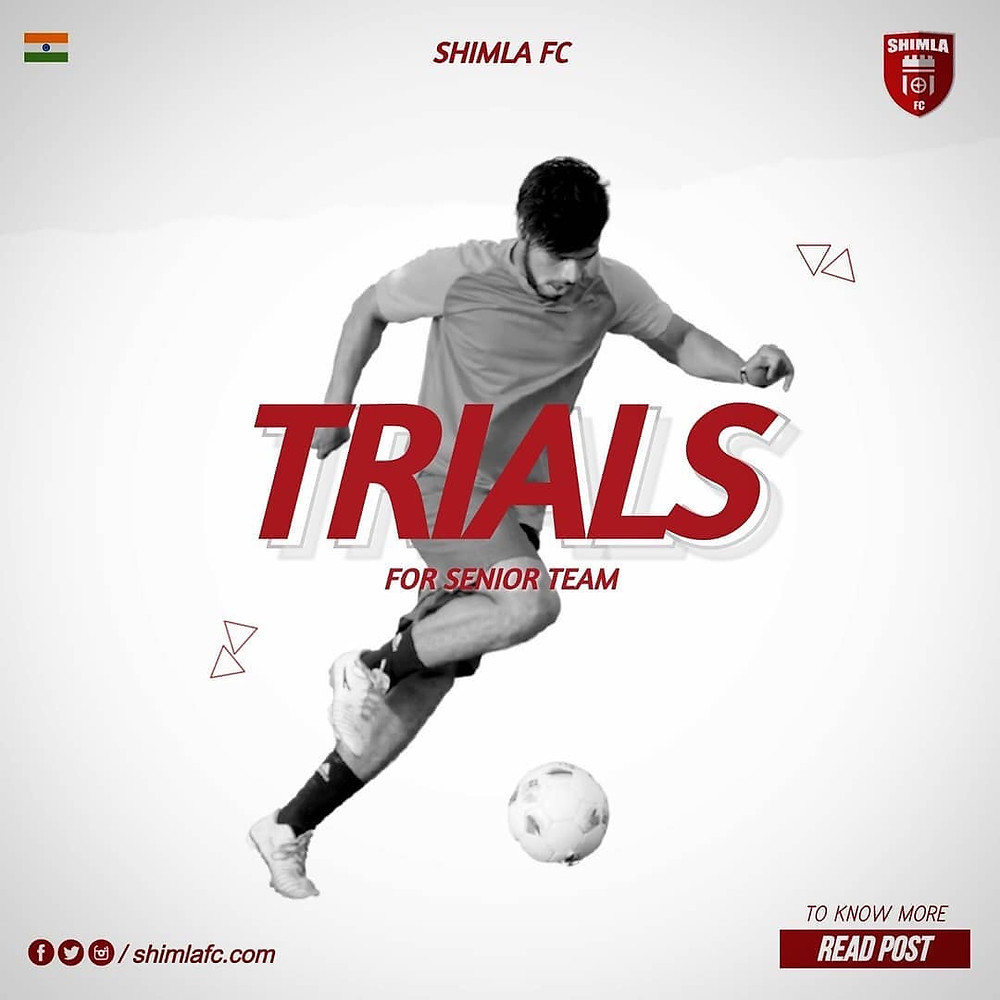 Shimla FC football trials | Upcoming football trials in India